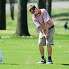 Globe/T. Rob Brown<br /> Webb City's Dustin Davis hits toward the green from the fairway of the 18th hole Thursday afternoon, March 29, 2012, at Twin Hills Country Club.