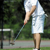 Globe/T. Rob Brown<br /> Joplin's Nick Yuhas plays his short game on the 18th hole Thursday afternoon, March 29, 2012, at Twin Hills Country Club.
