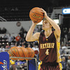 Dieterich's Dalton Hinterscher shoots a three-pointer during Class 1A Three-Point Showdown finals at Bradley UnIversity in Peoria. Hinterscher hit eight of his 15 shots, and his score of eight was good for third place. He started out red hot, hitting his first five shots in a row before slowing down the stretch of the competition. Hintercher advanced to the finals with a red-hot performance, hitting 13 of 15 shots. His score was the highest of all 32 participants, which included Cowden-Herrick's Ethan Schoonover. Schoonover hit 10 shots, tying for the fourth and final spot, but was eliminated in a tiebreaker by Scotia's Jamie Cousins. Hanover's Brenden Dauphin hit 11 shots and won the competition, while Woodlawn's Jayson Hapeman took second with a score of 10. Cousins finished fourth with a score of five.