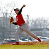 Effingham's Swayde Sanders releases a pitch during the Flaming Hearts' win over Altamont.