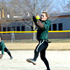 Stew-Stras/Windsor's Kendall Knop pitches in the Comets' season opener at Windsor.