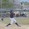 Windsor/Stew-Stras' Hayden Cole swings at a pitch during the Blue Devils' loss to Teutopolis.