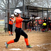 Altamont's Audrey Winters laces a base hit during the Indians' early-season win over Greenville.
