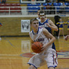 St. Anthony's Neil Williams pulls up in the lane during the Bulldogs' win over Oblong.