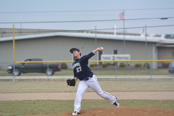 Teutopolis' Bobby Wenthe winds up and prepares to pitch against Windsor/Stew-Stras.