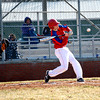 St. Anthony's Jacob Lorenz takes a cut at a pitch during the Bulldog's loss to Champaign Centennial.