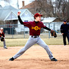 Dieterich pitcher Charlie Thoele delivers during an extra-inning win over Shelbyville.