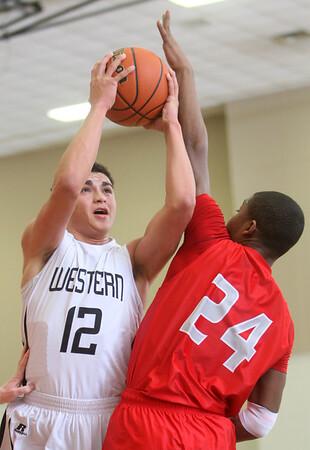 3-4-15<br /> Western vs West Lafayette<br /> Western's Des Balentine shoots.<br /> Kelly Lafferty Gerber | Kokomo Tribune