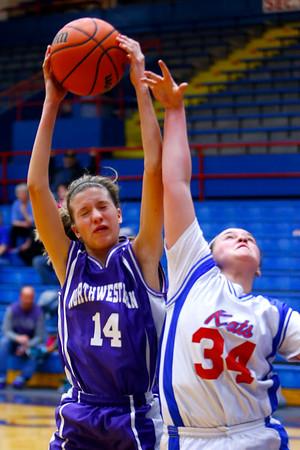 Eighth grade girls basketball city/county championship between Northwestern and Kokomo on Monday March 23, 2015. <br /> Tim Bath | Kokomo Tribune