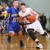 3-3-15<br /> Tri Central vs Clinton Prairie basketball<br /> Tri Central's Colby Malson stays on Clinton Prairie's Merric McGraw.<br /> Kelly Lafferty Gerber | Kokomo Tribune