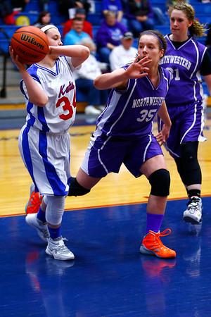 Eighth grade girls basketball city/county championship between Northwestern and Kokomo on Monday March 23, 2015. <br /> Tim Bath   Kokomo Tribune