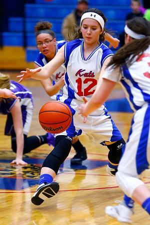 Eighth grade girls basketball city/county championship between Northwestern and Kokomo on Monday March 23, 2015. Kokomo's Taylor Simmons.<br /> Tim Bath | Kokomo Tribune