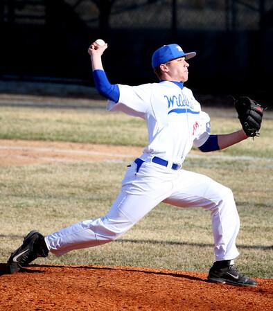 3-31-15<br /> Kokomo vs Eastern baseball<br /> Kokomo's Kyle Wade pitches.<br /> Kelly Lafferty Gerber | Kokomo Tribune