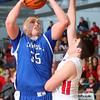 3-7-15<br /> Carroll vs Rossville<br /> Carroll's Jarin Bush shoots.<br /> Kelly Lafferty Gerber   Kokomo Tribune