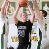 3-6-15<br /> Western vs Benton Central<br /> Western's Zach Shahan shoots.<br /> Kelly Lafferty Gerber | Kokomo Tribune