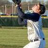 Teutopolis' John Kreke eyes an infield fly ball in the top of the fifth inning against Neoga.