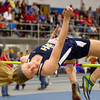 Teutopolis' Anna Hartke gets over the bar during the high jump at the EIU Indoor Invitational.