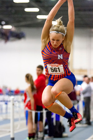 Newton's McKendra Barthelme finished first in the long jump, reaching 17-01 at the indoor invite at Eastern Illinois University.