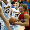 St. Anthony's James Kabbes (right) is met by Dieterich's Noah Heuerman while Callaway Campton (35) looks on in the background.