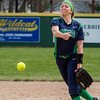 Windsor/Stew-Stras' Megan Schlechte releases her pitch during game two of a doubleheader with Mattoon.