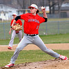 Effingham's Bryce Lohman delivers a pitch during a win over Altamont at Altamont High School.