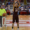 Dieterich's Ryan Radloff shoots during the Class 1A three-point showdown finals at Carver Arena in Peoria. Radloff finished third in the state at the competition.