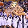 3-8-14  ---  State Girls Championship. Western girls cheer after winning the state Championship in Terre Haute. -- <br /> KT photo | Tim Bath