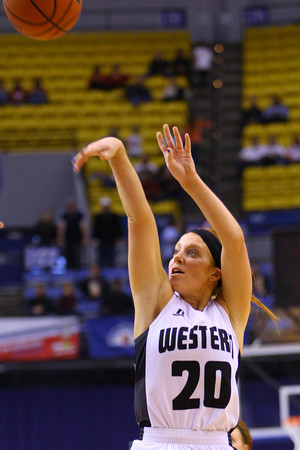 3-8-14  ---  State Girls Championship. Western girls cheer after winning the state Championship in Terre Haute. Caitlyn O'Neal going up for a shot in the 3rd quarter. -- <br /> KT photo | Tim Bath