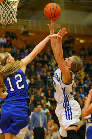 3-1-14  ---  Semi State girls basketball between Tipton and Canterbury. -- <br /> KT photo   Tim Bath