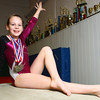 3-19-14<br /> Olivia Shoemaker of Kokomo Flipsters medaled at a recent gymnastics meet.<br /> KT photo | Kelly Lafferty
