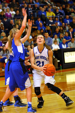 3-1-14  ---  Semi State girls basketball between Tipton and Canterbury. -- <br /> KT photo | Tim Bath