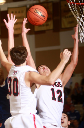 3-15-14<br /> Cass vs. Tipton Regional Championship<br /> Victor DeJesus of Lewis Cass goes up for a rebound.<br /> KT photo   Kelly Lafferty