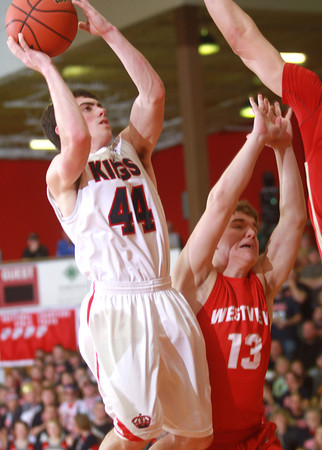 3-22-14<br /> Cass vs. Westview Semi-State<br /> Blake Hadley goes up for a shot over Westview's defense.<br /> KT photo | Kelly Lafferty