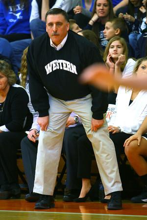 3-1-14   --- Western Girls Basketball coach Chris Keisling. -- <br />   KT photo | Tim Bath