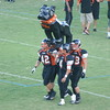 "Marin Catholic at Vacaville - September 7, 2012<br /> <br /> 'Dog Carriers bring ""Big Black"" into the stadium."
