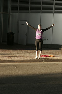 Aimee cheering on the TNTers in Rosslyn, Virginia