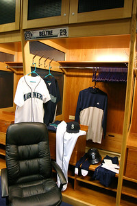 Adrian's locker was gussied up for the fans.