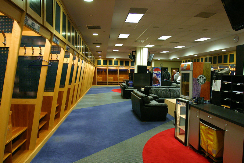 Locker room entrance.