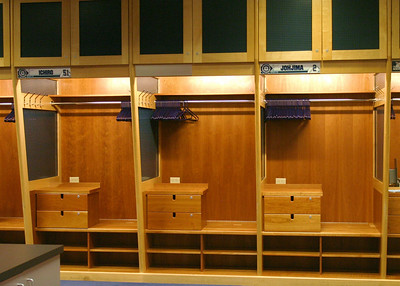 Ichiro gets two lockers for his bats, which are stored in the cubby behind the locked drawers.
