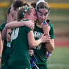 Nashoba's Chloe Spedden and Hannah Gaffney react after losing to Marlboro with 4 seconds left in the Div I Field Hockey Championship Game. SENTINEL & ENTERPRISE / Jim Marabello