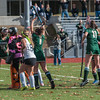 Nashoba players react after the game tying goal against Marlboro in the Div I Field Hockey Championship Game. Marlboro scored with 4 seconds left to win 2-1. SENTINEL & ENTERPRISE / Jim Marabello