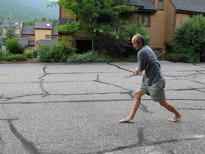 Yao Li performing detailed section of Damo Cane form (Waterville Valley, NH July 2010)
