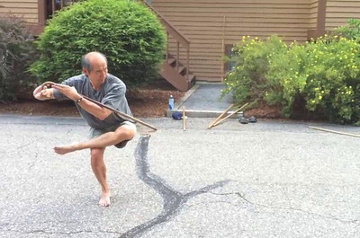 Yao Li performing Damo Cane form (Waterville Valley, NH July 2010)