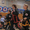 Elizabeth and Gabe get promoted to black belt at the 2016 WKSA Pacific Tournament, Folsom, CA.  April 16, 2016.