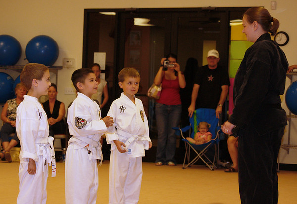 White belt level students who are not quite ready to test, however they did demonstrate what they have learned so far.