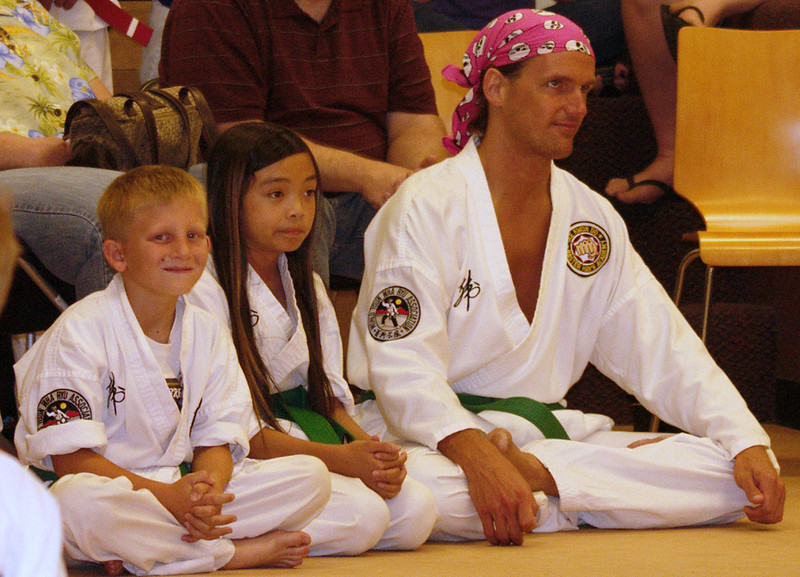 Some of our green belts waiting to test!