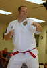 Brian Huff testing for 2nd stripe on his red belt!