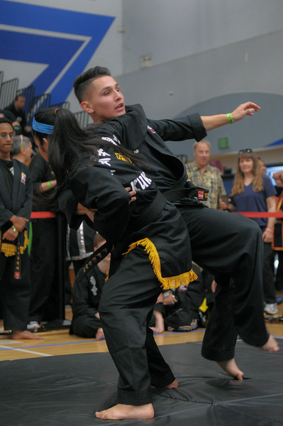 17 years and under, brown belts and first dahn compete at the 2016 WKSA Pacific Tournament, Folsom, CA.  April 16, 2016.