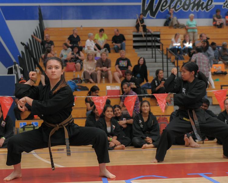 Menlo Park Kuk Sool Won team competing at the 2016 WKSA Pacific Tournament, Folsom, CA.  April 16, 2016.
