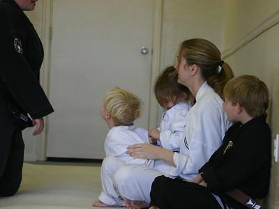Matthews first official karate class